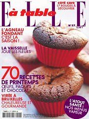 ELLE à table - Couverture mars 2008