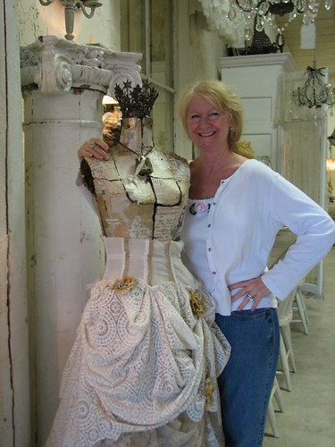 Susie the owner with one of her fabulous creations
