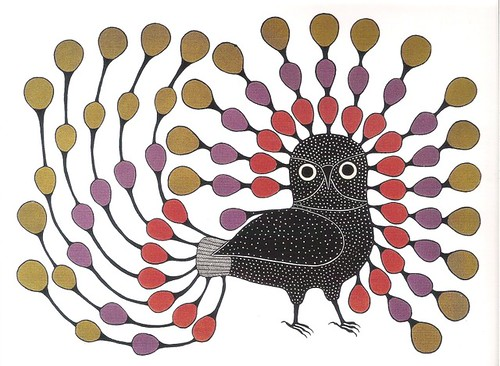 Inuit Art Birds - Illustrious Owl