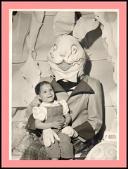 scary easter bunny -- Picnik (sparkleneely) Tags: bunny vintage easter found weird photo retro foundphoto picnik easterbunny