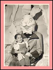 scary easter bunny -- Picnik (sparkleneely) Tags: bunny vintage easter found weird photo retro foundphoto picnik easterbunny