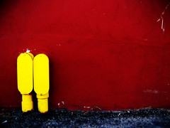 red and yellow in Port Jervis (Pixel Fantasy) Tags: red yellow wall portjervis