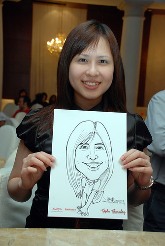 caricature live sketching Singtel Radiance Communications Avaya 14