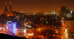 Seoul nightscape (... Arjun) Tags: longexposure 15fav panorama church skyline 1025fav 510fav nikon asia nightscape 100v10f korea panoramic seoul d200 southkorea 2008 gangnamgu koreanbbq 30seconds yeoksam 18200mmf3556g bluelist nonhdr koreanbeefbbq choonghyunpresbyterianchurch