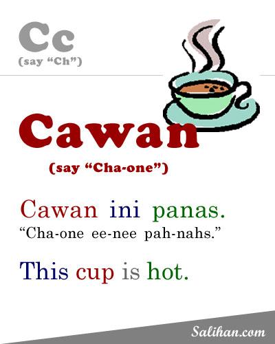 C=Cawan