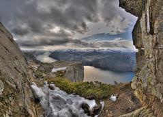 In the corner (Per Erik Sviland) Tags: panorama rock strand nikon erik per pulpit hdr prekestolen lysefjorden d300 pererik anawesomeshot sviland sqbbe pereriksviland