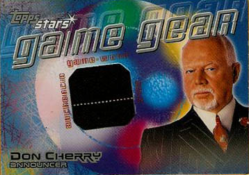 Don Cherry, 00-01 Topps, hockey, hockey cards