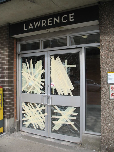 Subway Entrance, NE Corner of Yonge and Lawrence