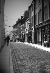 berwick upon tweed (annette62) Tags: street people shops cobbles bunting berwickupontweed