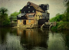 houghton watermill (And Soon the Darkness) Tags: uk england sky color colour reflection texture mill water digital river houghton stives cambridgeshire watermill cambs helluva blueribbonwinner samsungdigimax flickrsbest platinumphoto diamondclassphotographer flickrdiamond theperfectphotographer houghtonwatermill