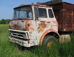 Old Chevy Cabover 60 (dbro1206) Tags: old chevrolet abandoned truck rust chevy resting roadside decayed cabover caboverengine