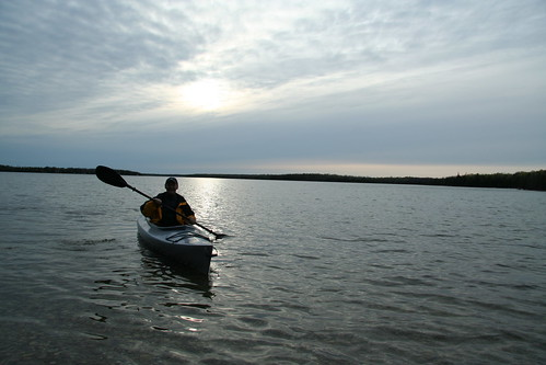 Maik in kayak on Gillies Lake 2