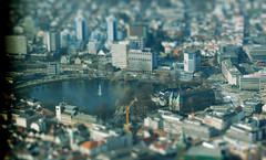 mini-Stavanger (ognavneterjanne) Tags: city photoshop stavanger miniature photo model air fake fromtheair tiltshift breiavannet domkirken fakemodelphotography airphotography kongsgrd europeancapitalofculture2008 domkjerk