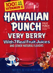 Hawaiian Punch Berry label