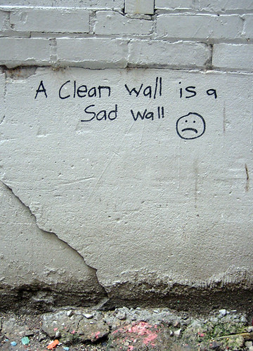 a clean wall