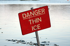 Danger Thin Ice (cc) by k8marieuk via Flickr