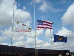Flags at half staff