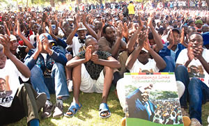 Africa Day rally held by the Zimbabwe African National Union Patriotic Front (ZANU-PF) Youth League in Harare on May 25, 2011. Zimbabwe is a leading country on the African continent. by Pan-African News Wire File Photos