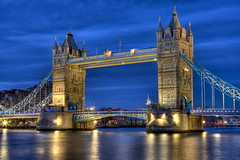 Tower Bridge London (Joshua Gunther) Tags: uk bridge vacation london tower water night canon photography evening europe joshua 5d hdr gunther mkii joshuaguntherphotography
