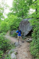 David looking the rock formations (daveynin) Tags: rocks trail rockformations shenandoahnationalpark oldrag ridgetrail deaftalent deafoutsidetalent deafoutdoortalent