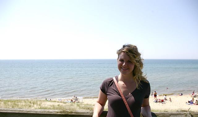 oval beach {lake michigan}