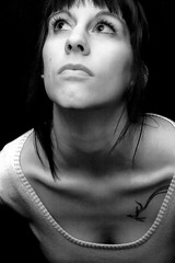 Alexis (austinspace) Tags: portrait blackandwhite bw woman white black neck sternum clavicle