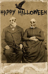 Happy Halloween (annabelletexter) Tags: halloween vintage happy death mixed media couple crown photochopsuey