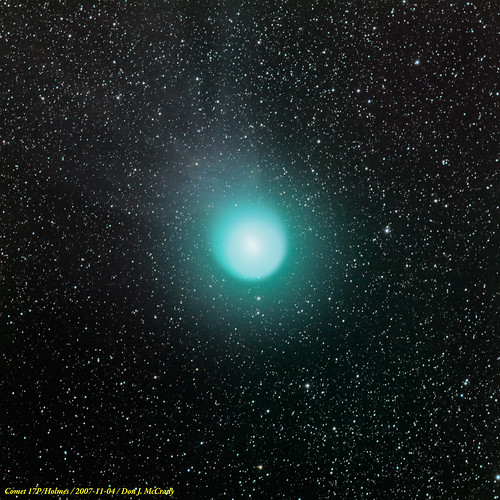 Comet 17P/Holmes with Tail