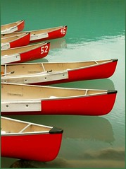 Seven (jurek d.) Tags: red canada boats alberta lakelouise golddragon jurekd anawesomeshot colorphotoaward