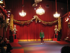 Charles Phoenix in the Bob Baker Marionette Theater. (12/09/2007)