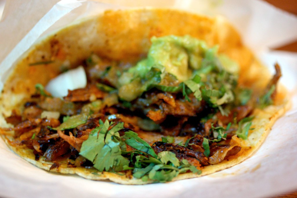 Roast pork taco