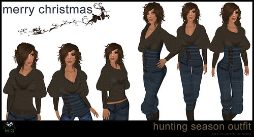 [MG fashion] Hunting Season Outfit (blue) - Group Christmas Gift