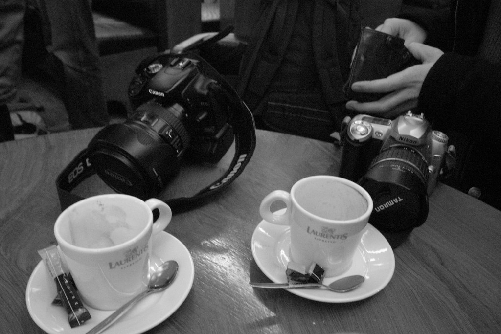 coffee and cameras
