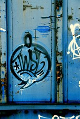 Twist (All Seeing) Tags: art graffiti twist trains tags barrymcgee twister sfgraffiti twisty graffitiart freights paintedtrains railart sanfranciscograffiti monikers twisto rayfong freightgraffiti boxcarart bayareagraffiti twist1 hobotags twistthr