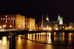 Liverpool 08 (gymothy) Tags: city water skyline liverpool dark dock europe european northwest unitedkingdom capital culture illuminated capitol 2008 investment albertdock quayside merseyside seafaring gbr liverbuildings capitalofculture buildingexterior cityofculture europeancapitalofculture2008