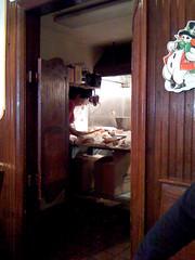 slicing sandwiches at primanti bros