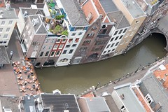 Utrecht city center from the Domtower
