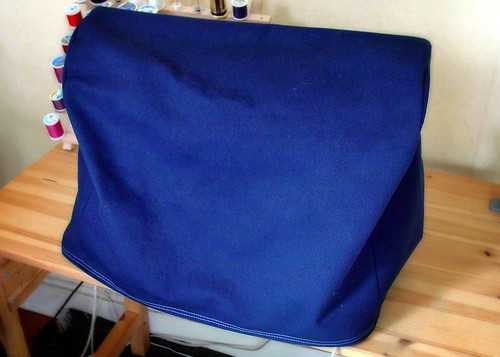 Home made fabric sewing machine cover