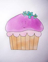 Girly Girl Cupcake