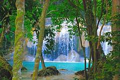 Erwan falls(2) (pninaN) Tags: blue trees water landscape thailand falls tropic cascade kanchanabury erwanfalls mywinners abigfave nikond40x d40x brillianteyejewel