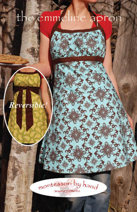front of emmeline apron sewing pattern