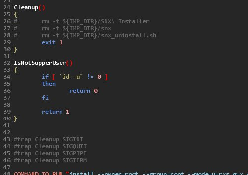 modified snx_install.sh file