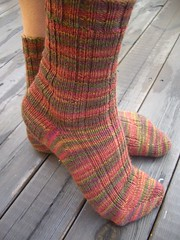 Madder ribbed socks