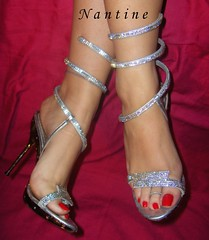 Swarovski Art 4 (Kwnstantina) Tags: feet foot highheels sandals arches barefoot swarovski paintednails longnails