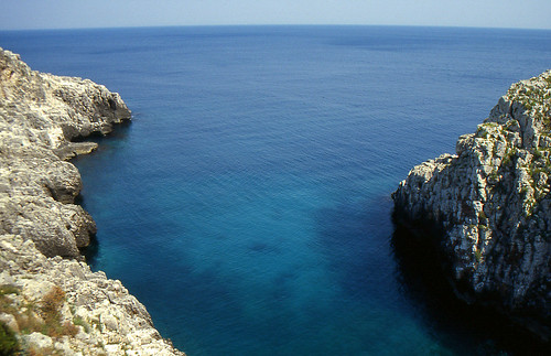 The cobalt blue sea of the Salento