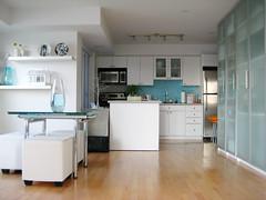 (Jen44) Tags: blue white ikea kitchen modern maple apartment interior condo pax interiordesign hardwood moderninteriors