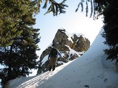 Jim K approaching chute.