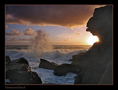 Planet of the Apes (l plater) Tags: seascape clouds sunrise landscape dawn rocks waves horizon sydney australia northernbeaches blueribbonwinner avision bestofaustralia excapture warriewoodbeach lplater unlimitedphotos