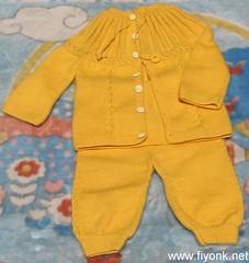 bebek hırka-pantolon takımı