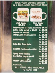 cafe dumonde menu